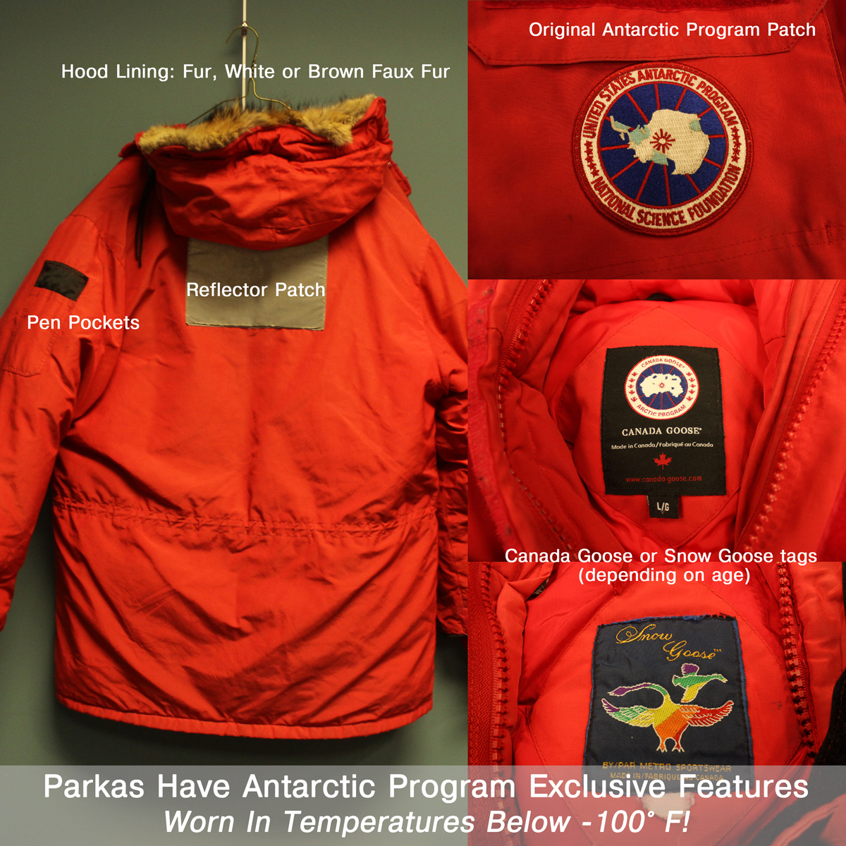 Quot Big Red Quot Canada Goose Down Parka Worn In Antarctica